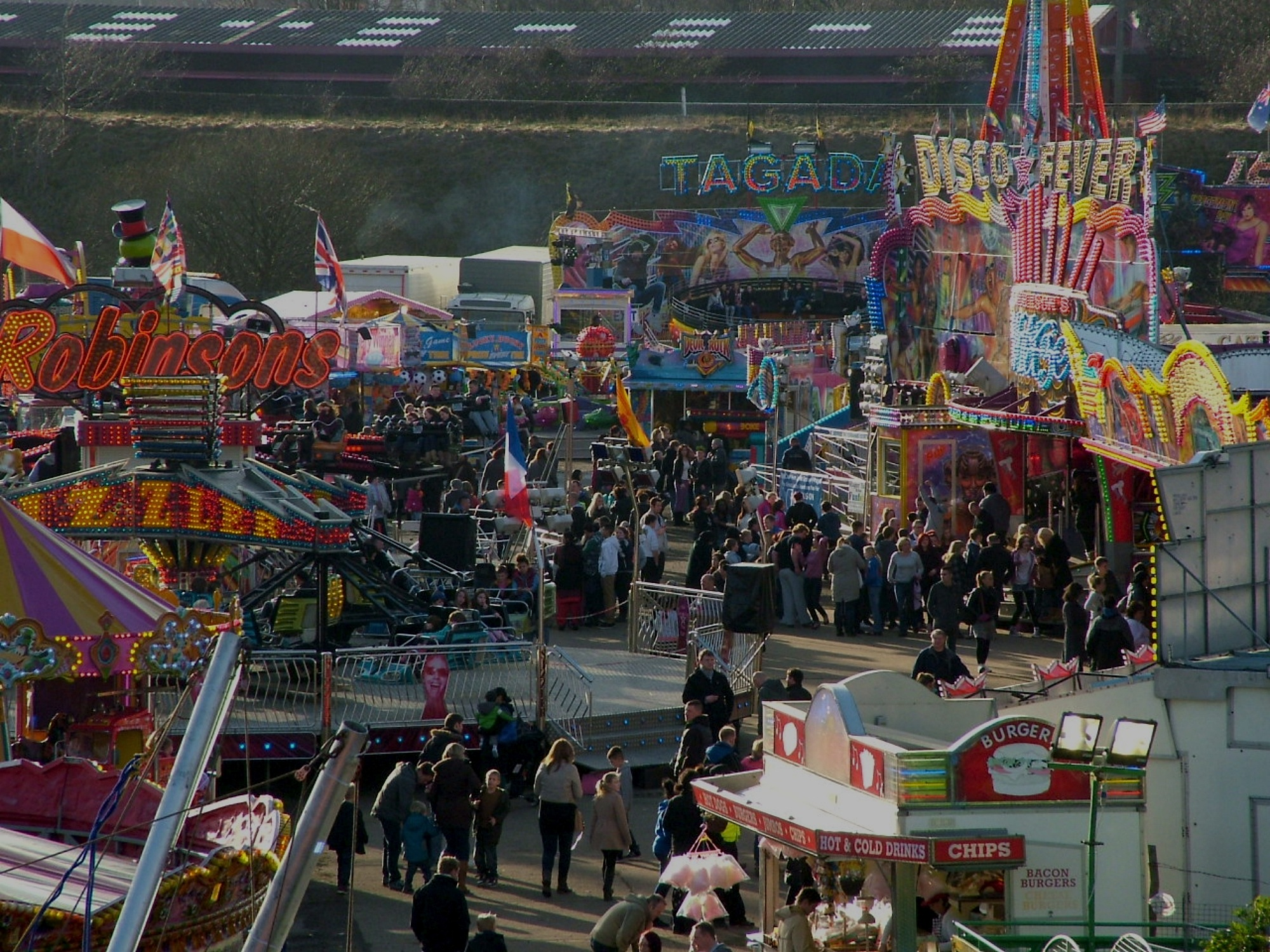 View of Leeds Valentines Fair