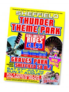 Sheffield Thunder Theme Park Poster